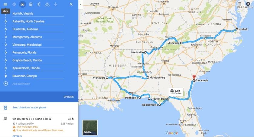Road Trip Map