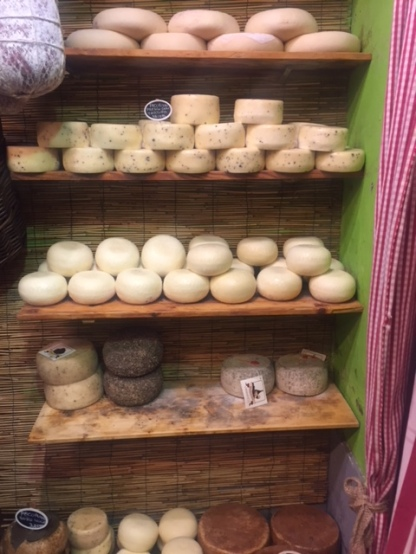 Cheese in a random shop. Deliciously stinky!